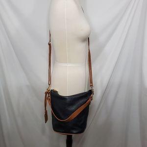Valentina Leather Crossbody Bucket Bag